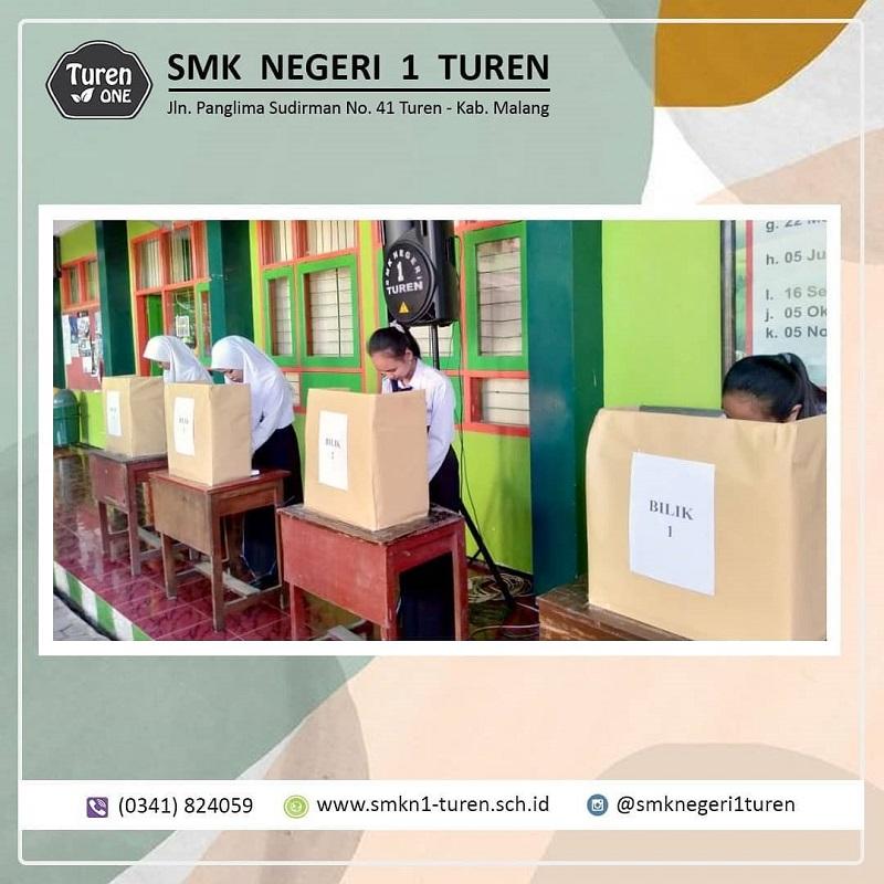 SMKN 1 Turen menyelenggarakan acara pemilihan Ketua dan Wakil OSIS 2019/2020