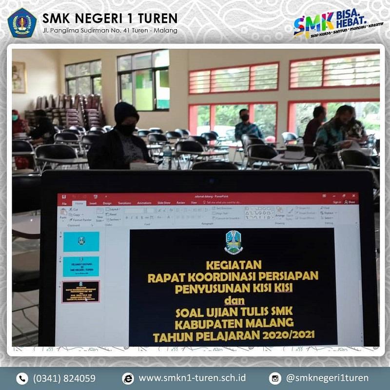 Rapat Koordinasi Persiapan Penyusunan Kisi-kisi dan Soal Ujian Tulis SMK Kabupaten Malang Tahun Pelajaran 2020/2021