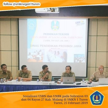 Sosialisasi Proktor USBN dan UNBK 2019