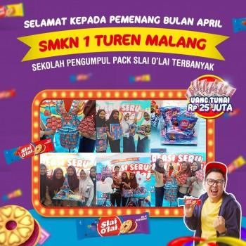 SMKN 1 Turen Berhasil Ditetapkan Sebagai Pemenang Dengan Kreasi Paling Seru Slai Olai 2019