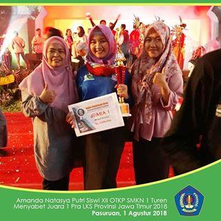 Juara 1 Ajang Pra-LKS Provinsi Jatim