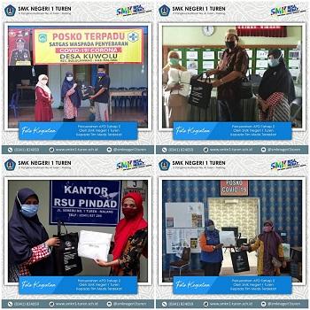 Penyerahan APD Tahap 2 Oleh SMK Negeri 1 Turen Kepada Tim Medis Terdekat