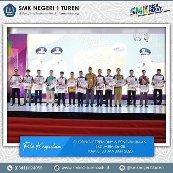 SMKN 1 Turen Menorehkan Prestasi di LKS tingkat Jawa Timur