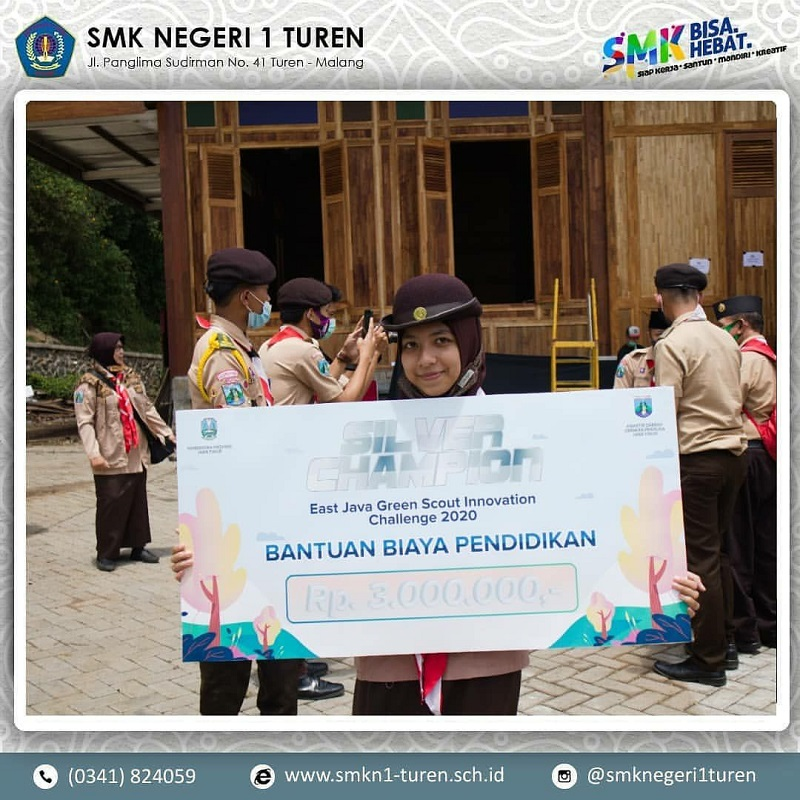 Penegak SMKN 1 Turen Berhasil Mendapatkan Silver Champion East Java Green Scout Innovation Challenge 2020