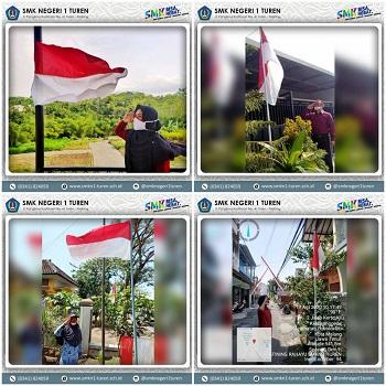 Upacara Virtual Dalam Peringatan Hari Ulang Tahun (HUT) Ke-75 Kemerdekaan Republik Indonesia (RI)