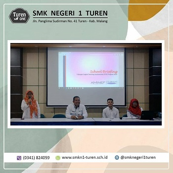 SMKN 1 Turen Mengadakan School Briefing Mengenai Program Fullbright English Teaching Assistantship (ETA)
